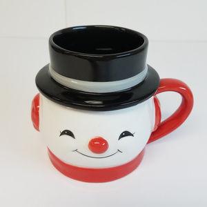Hallmark Snowman Mug With Removable Hat/Lid